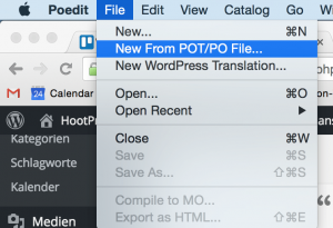 Neue Übersetzung erstellen mit Poedit