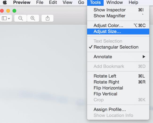 Bildauflösung anpassen Mac 1