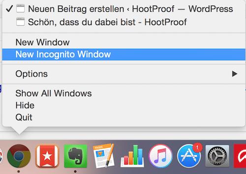 Neues Inkognito-Fenster in Chrome öffnen 2