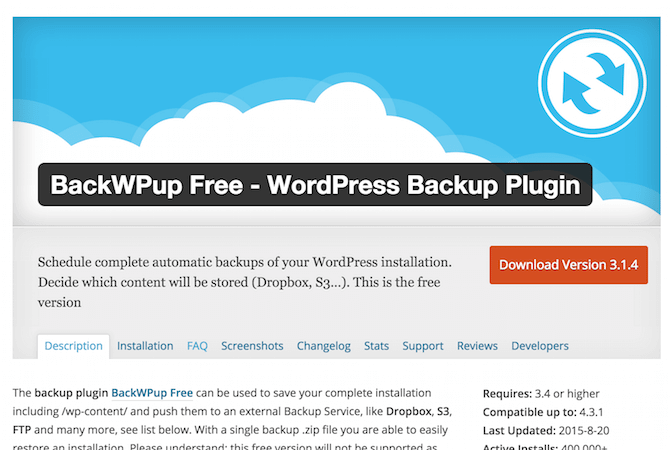 BackWPup WordPress Plugin einrichten