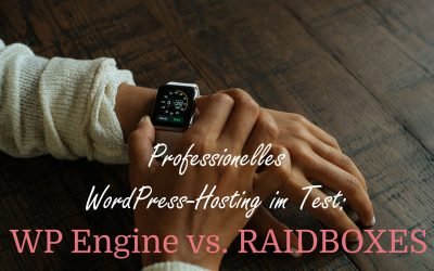 WordPress Hosting im Test: WP Engine vs. RAIDBOXES