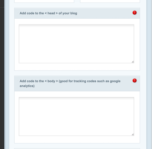 Optionen des Divi-Themes zum Einfügen von Code-Snippets
