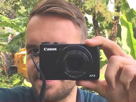 Robert Gladitz mit Kamera