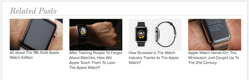 """Beispiel für """"Ähnliche Beiträge"""" mit Contextly (Screenshot von contextly.com)"""