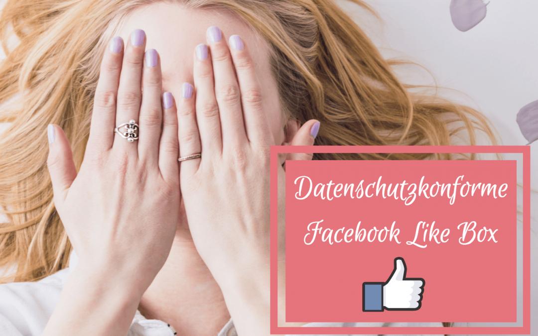 Datenschutzkonforme Facebook Like Box