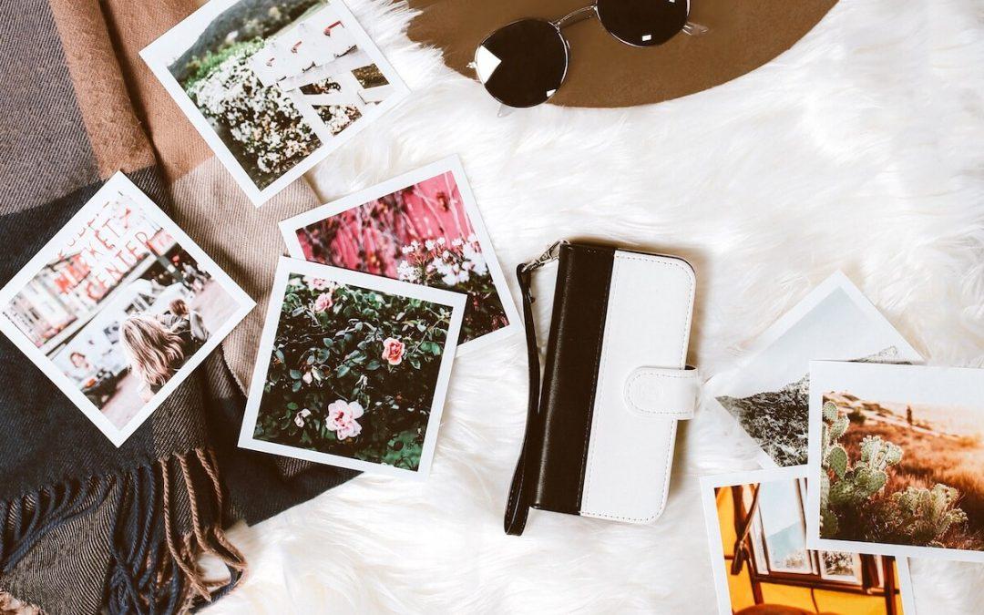 Verstreute Polaroids