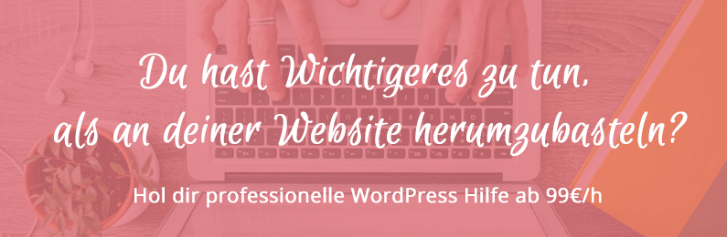 WordPress Support ab 99€/h